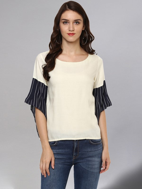Idalia Solid Off White Top