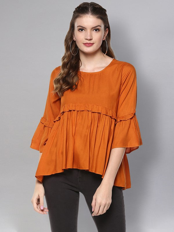 Idalia Marmalade Flared Top