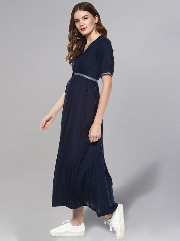 Idalia Navy Blue Long Kurta