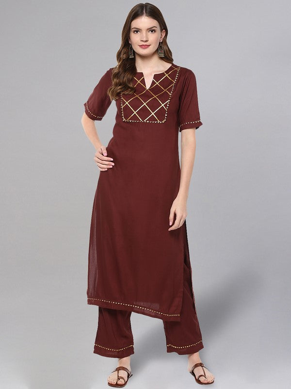 Idalia Coffee Brown Kurta Set