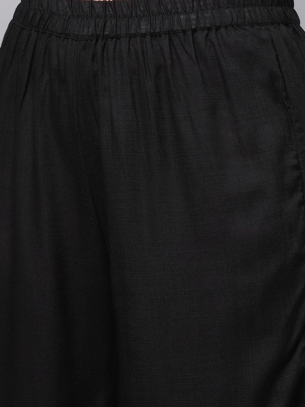 Idalia Black Kurta With Palazzo Pants