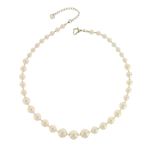 Audrey White Pearl Necklace