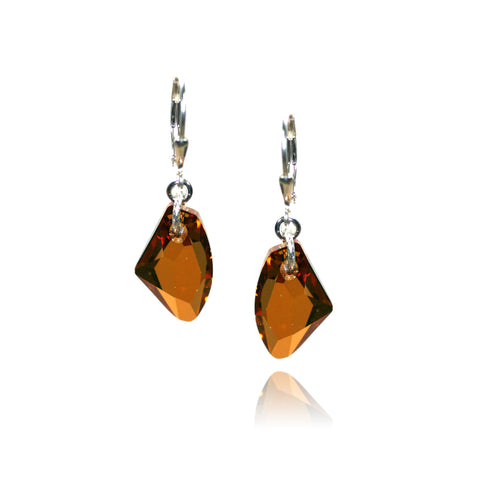 Brigitta Crystal Copper Earrings