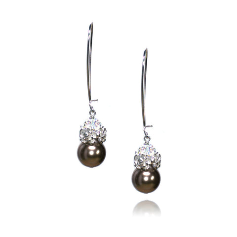 Caeli Bronze Pearl Earrings
