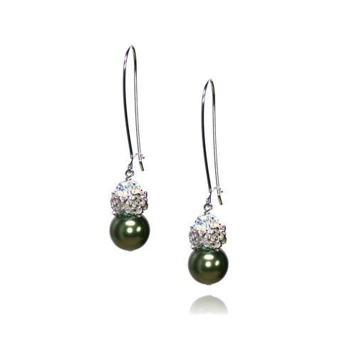 Caeli Light Green Pearl Earrings