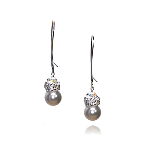 Caeli Light Grey Pearl Earrings