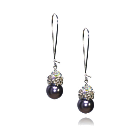 Caeli Mauve Pearl Earrings
