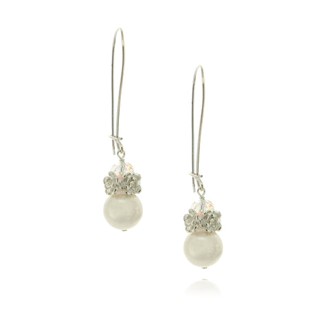 Caeli White Pearl Earrings