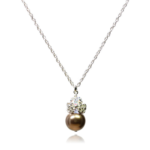Caeli Bronze Pearl Necklace