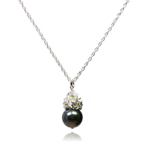 Caeli Dark Grey Pearl Necklace