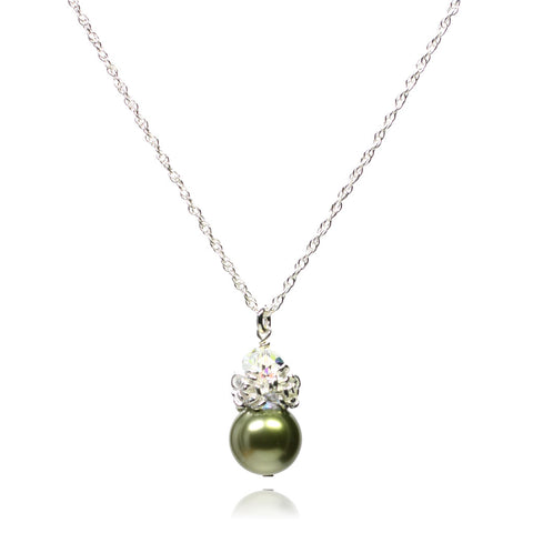 Caeli Light Green Pearl Necklace