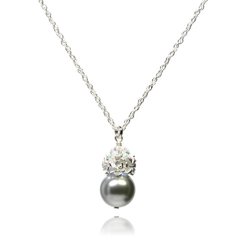 Caeli Light Grey Pearl Necklace