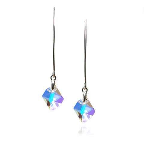 Connie Crystal AB Earrings