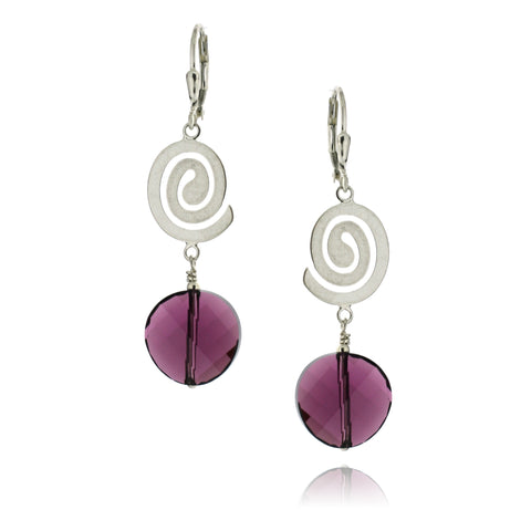 Rhonda Amethyst Earrings