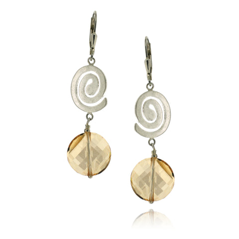 Rhonda Golden Shadow Earrings