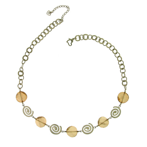 Rhonda Golden Shadow Necklace