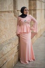 Load image into Gallery viewer, Almy Peplum Dress in Pink