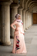 Load image into Gallery viewer, Heliza Peplum Dress in Apricot
