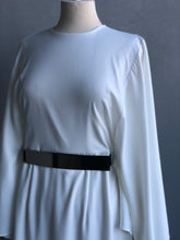 Load image into Gallery viewer, Hilda Dress in White with Removable Belt