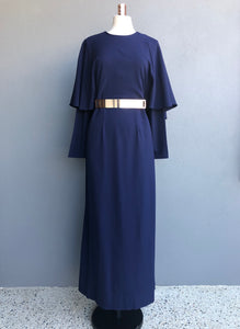 Gilda Dress in Navy with Belt