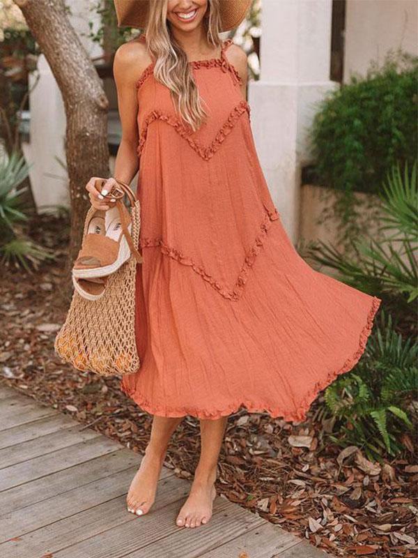 Women Summer Sexy Lace Sleeveless Dress