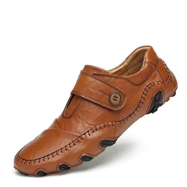 Men Genuine Leather Shoes Casual Flats Shoes