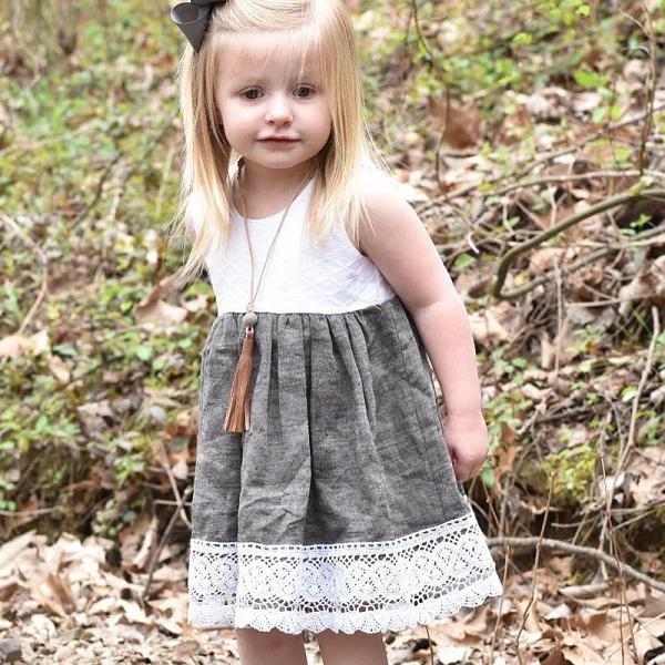 Toddler Girls Sleeveless Casual Dress
