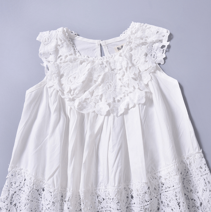 Solid Colors Lace Casual Party Princess Dress
