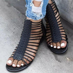 Casual Flat Hollow Strap Sandals