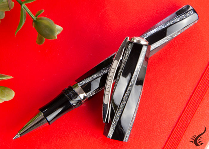 visconti-divina-fashion-rollerball-pen-resin-black-silver-kp18-23-rb