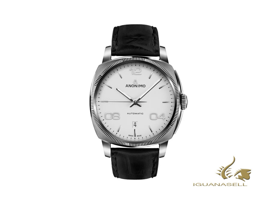 Anonimo Epurato Automatic Watch, White, 42 mm, Leather strap, AM-4000.01.100.W11