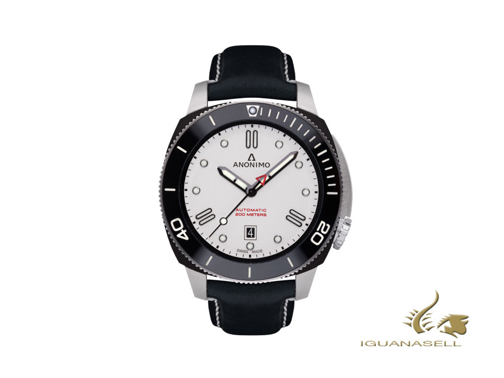 Anonimo Nautilo Automatic Watch, White, 44,4 mm, 20 atm, AM-1002.05.003.A05