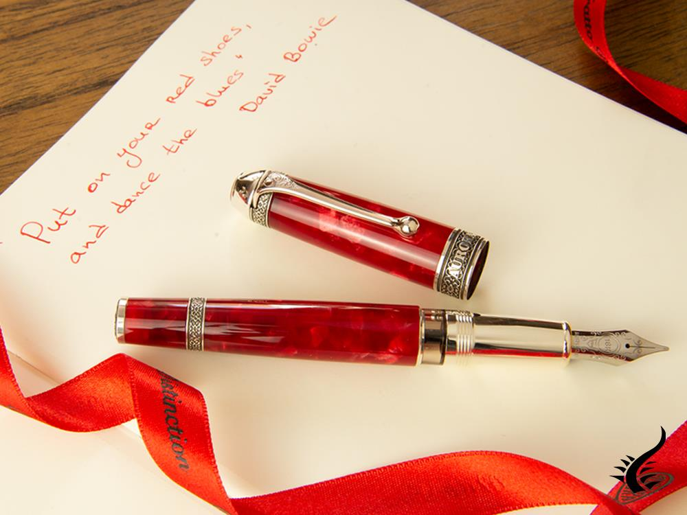 Aurora 85th Anniversary Fountain Pen, Limited Edition, Marbled Resin