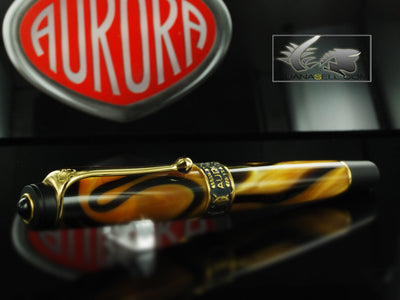 Aurora Afrika Rollerball pen, Limited Edition, Marbled resin, Gold trims, 527