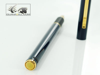 Aurora Hastil 1970 Fountain Pen - Blue Lacquer and Gold