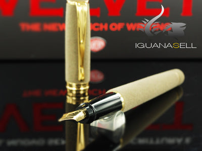 Aurora Ipsilon Fountain Pen, Velvet, Taupe, Gold trim, B18S