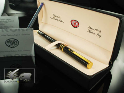 Aurora Marco Polo Fountain Pen Black 'Stardust' - New