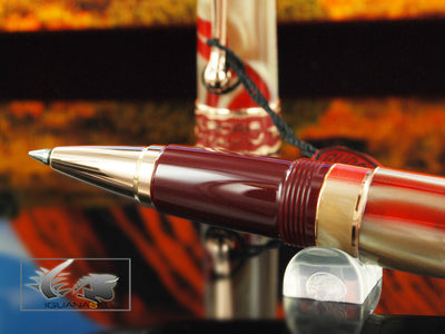 Aurora Oceania Rollerball pen, Limited Edition, Marbled resin, Rose Gold trims