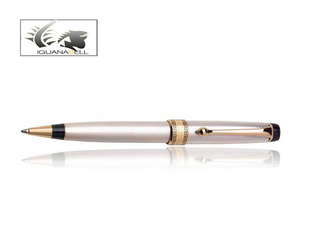 Aurora Optima Riflessi Ballpoint Pen -.925 Solid Silver and Gold - 988