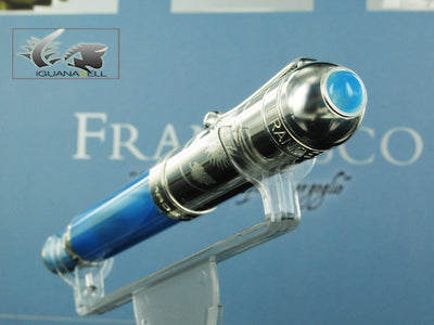 Aurora Pope Francisco Fountain Pen, Blue marbled resin, Lim.Edition