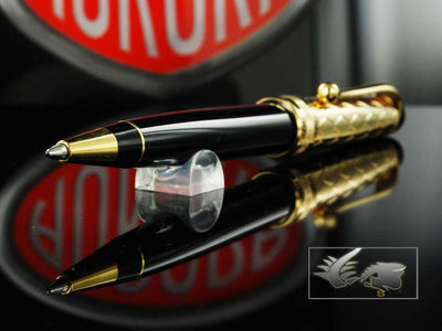 Aurora Riflessi Ballpoint Pen-18kt.Solid Gold Cap & Resin Barrel-G30CN