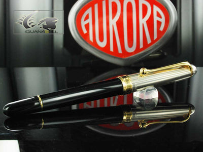 Aurora Roller Pen 88 Big Gioiello - Silver 925. & Golden Trims - 873