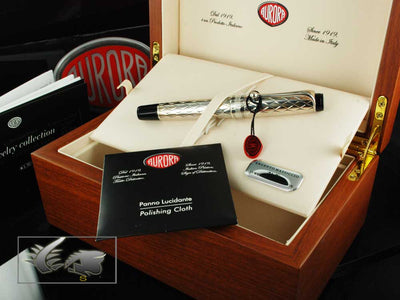 Aurora Roller Pen Riflessi - .925 Sterling Silver Cap and Barrel - G71
