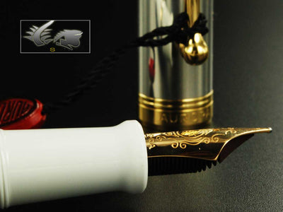 Aurora Sindone LE Fountain Pen - Gold, Silver & Resin