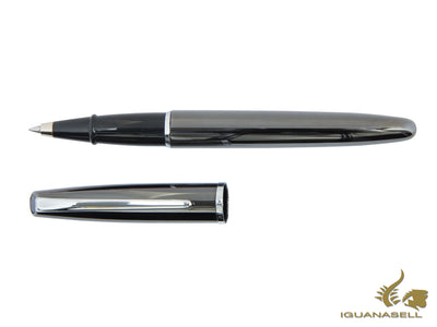 "Aurora Style Roller Pen - Laquered ""Gun Barrel"" & Chrome Trims - E73"