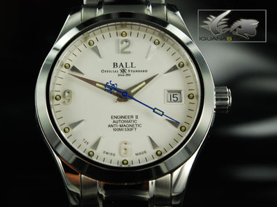 Ball Automatic Watch Engineer II Ohio NM1026C-SJ-WH