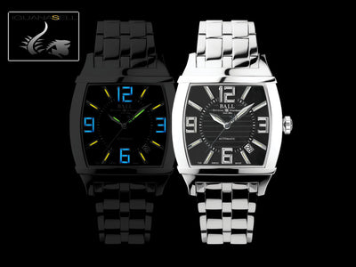 Ball Conductor Transcendent Watch, Ball RR1101, Black, Steel bracelet