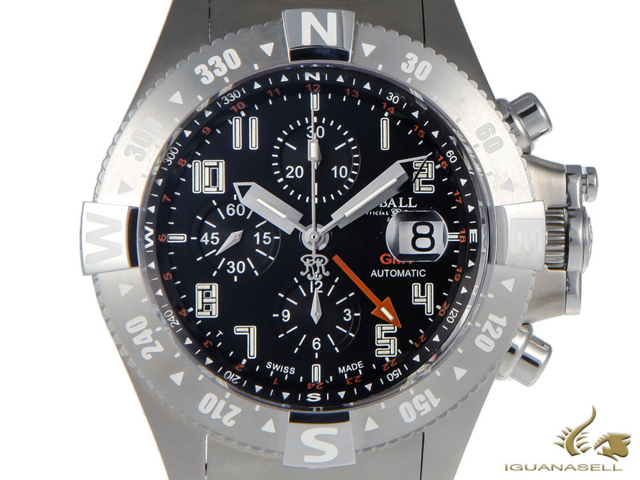 Ball Spacemaster Orbital II Watch, Titanium, Cronograph, GMT, DC3036C-SA-BK