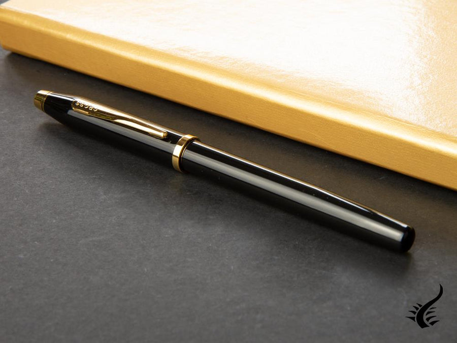 Cross Century II Fountain Pen, Lacquer, Black, 23K Gold plated, Polished