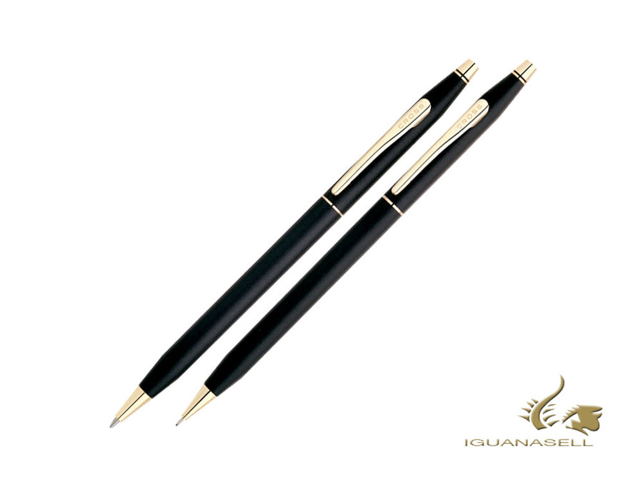 Cross Classic Century Ballpoint pen & Pencil Set, Resin, Black, Mat, 250105